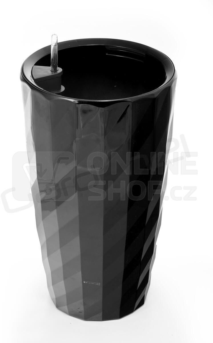 Samozavlažovací květináč G21 Diamant černý 57 cm