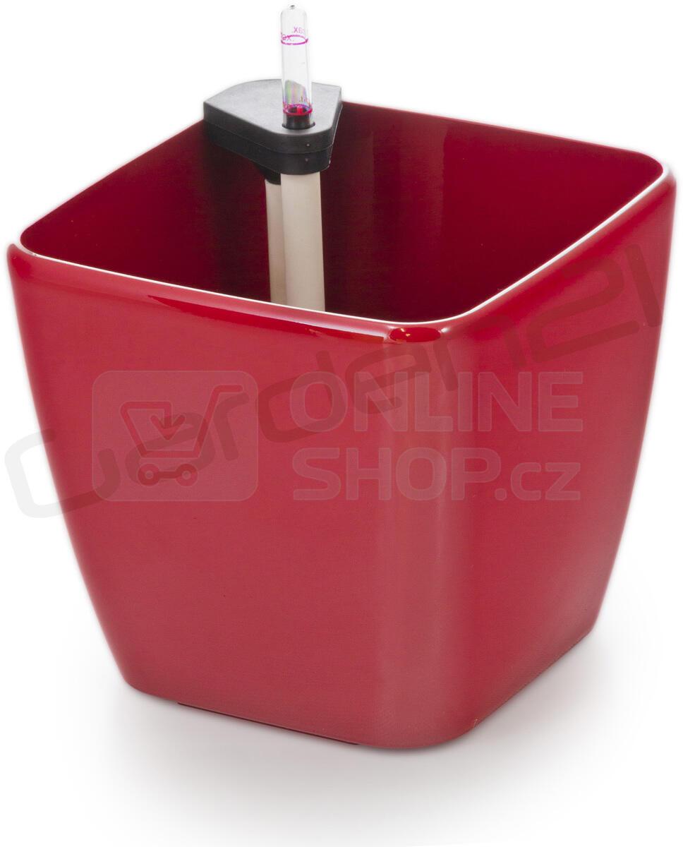 Samozavlažovací květináč G21 Cube červený 22 cm