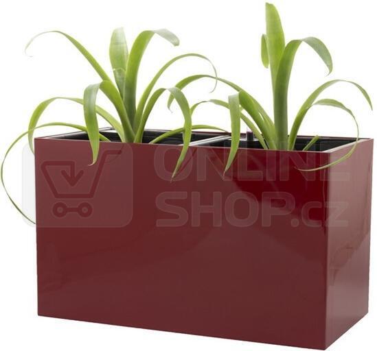 Samozavlažovací květináč G21 Combi červený 56 cm