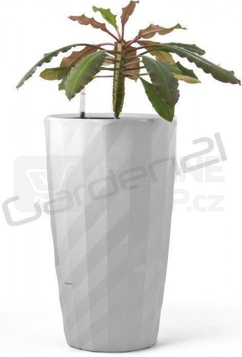 Samozavlažovací květináč G21 Diamant bílý 57 cm