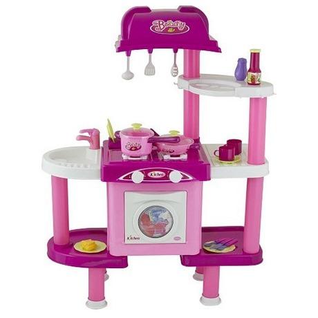 G21 Dětská kuchyňka LENA spříslušenstvím růžová II. (foto 1)