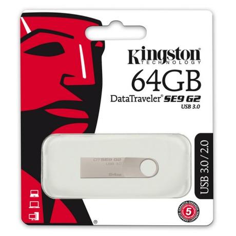 Flash USB Kingston DataTraveler SE9 G2 64GB USB 3.0 - kovový - Kingston DataTraveler SE9 G2 64GB DTSE9G2/64GB (foto 4)