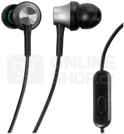 Sluchátka Sony MDREX450APH.CE7 - stříbrná