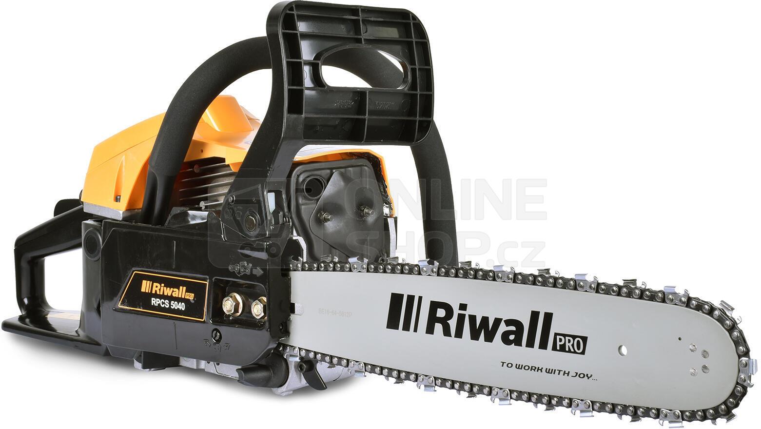 Pila řetězová Riwall RPCS 5040, benzínová