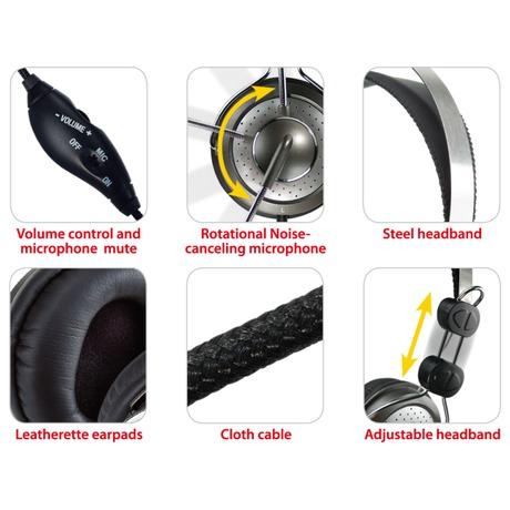 Headset Genius HS-04SU - černý/stříbrný