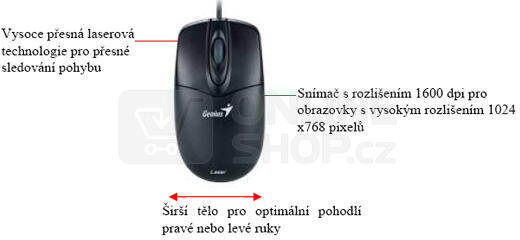 Myš Genius NetScroll 200 černá