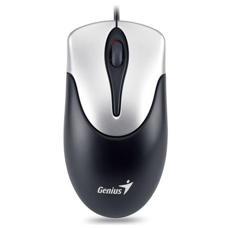 Myš Genius NetScroll 100 / optická / 3 tlačítka / 800dpi - černá/stříbrná