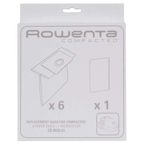 Filtr papírový Rowenta ZR003901, sada 6ks do vysav. Compacteo RO17xxxx - Rowenta ZR003901, sada 6ks dovysav. Compacteo RO17xxxx (foto 2)