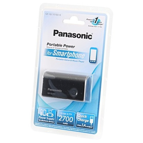 Power Bank Panasonic QE-QL101, 2700 mAh, 1A - černá - Panasonic QE-QL101 2700mAh - černá (foto 5)