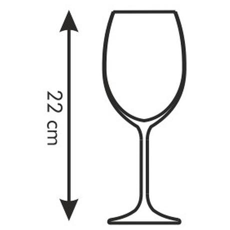 Sklenice na červené víno Tescoma CHARLIE 450 ml, 6 ks