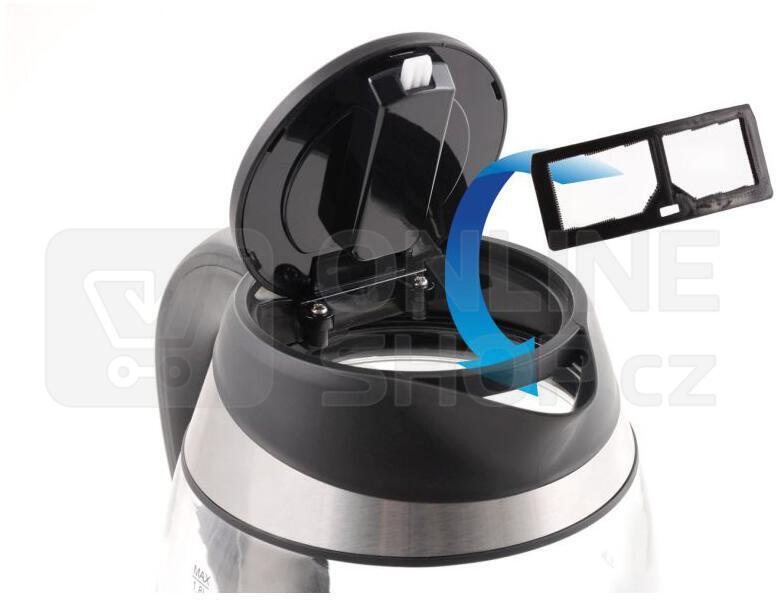 Concept RK4060 Rychlovarná konvice skleněná 1,8 l s nastavením teplot