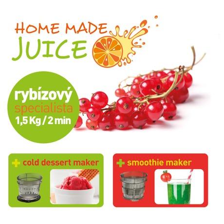 Odšťavňovač šnekový Concept LO-7065 Home Made Juice - Concept LO7065 Lis na ovoce a zeleninu Home Made Juice SINFONIA (foto 12)