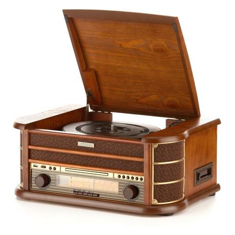Gramofon s CD Hyundai RTCC 513 RIP O RETRO, FM, ořech - Hyundai RTCC 513 RIP O RETRO, FM, ořech (foto 1)