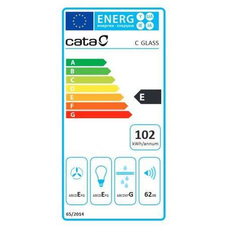 Odsavač par CATA C GLASS Nerez Halogen 900