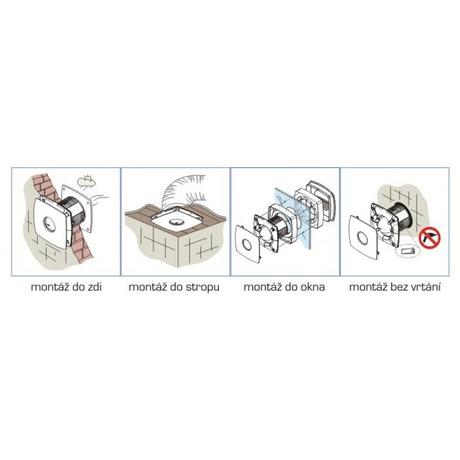 Cata Axiální ventilátor Cata X-MART 12 H INOX (foto 8)