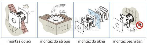 Axiální ventilátor Cata X-MART 15 T INOX