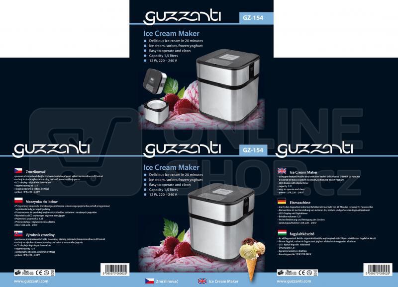 Zmrzlinovač GUZZANTI GZ 154