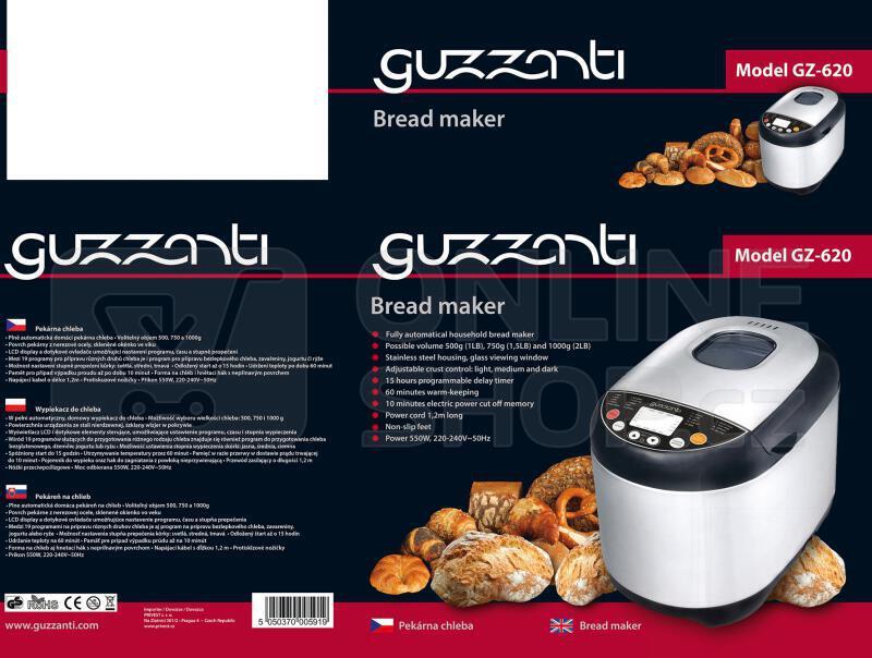 Domácí pekárna Guzzanti GZ 620