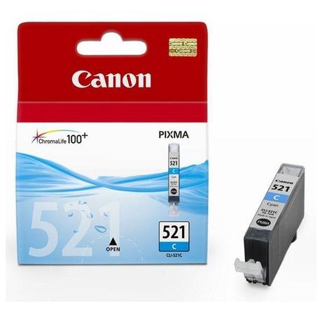 Canon CLI-521C, 530 stran originální -modrá (foto 1)