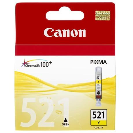 Canon CLI-521Y, 530 stran originální -žlutá (foto 1)