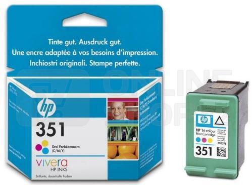 Inkoustová náplň HP No. 351, 3,5 ml originální - červená/modrá/žlutá