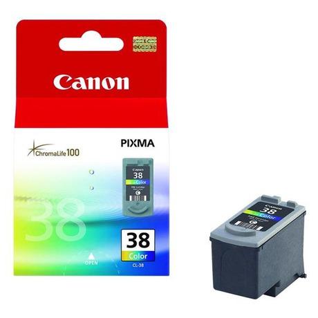 Inkoustová náplň Canon CL-38C, 207 stran originální - červená/modrá/žlutá - Canon CL-38C, 207 stran originální -červená/modrá/žlutá (foto 1)