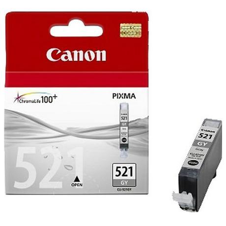 Inkoustová náplň Canon CLI-521GY, 1370 stran originální - šedá