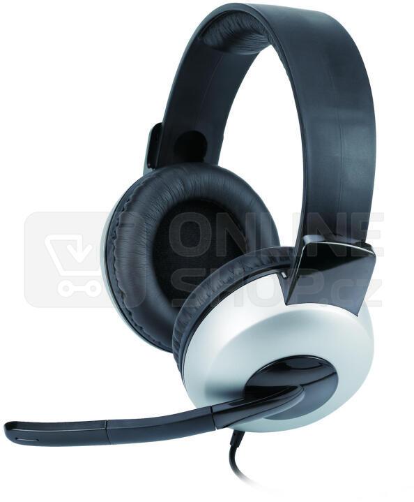 Headset Genius HS-05A - černý/stříbrný