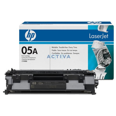 Toner HP CE505A, 2,3K stran originální - černý