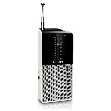 Radiopřijímač Philips AE1530, černý/stříbrný