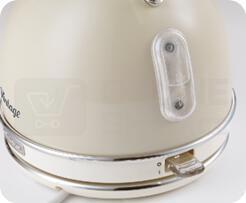 SET Ariete Vintage rychlovarná konvice, krémová, 2877/03 + Ariete Vintage topinkovač, krémový, 155/13