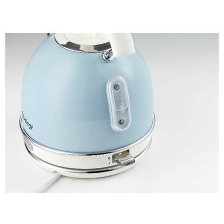 SET Ariete Vintage rychlovarná konvice, modrá, 2877/05 + Ariete Vintage topinkovač, modrý, 155/15