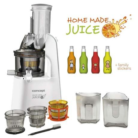 Odšťavňovač Concept LO7066 - Concept LO7066 Lis na ovoce a zeleninu Home Made Juice WHITE (foto 6)