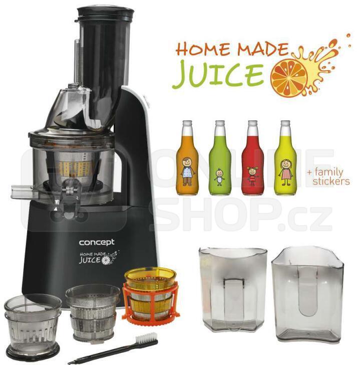 Concept LO7067 Lis na ovoce a zeleninu Home Made Juice BLACK