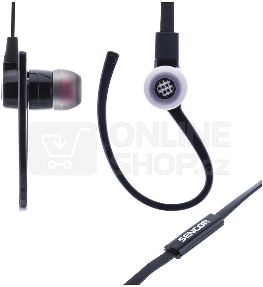 Sluchátka za uši Sencor SEP 189 MIC Black