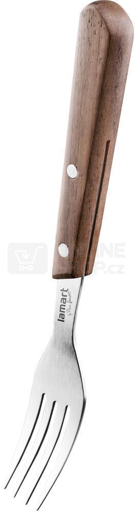 Sada steakových nožů Lamart LT2062 STEAKOVÝ PŘÍBOR 8KS WALNUT