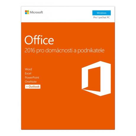Software Microsoft Office 2016 CZ pro domácnosti a podnikatele