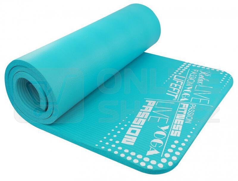 Podložka Lifefit Yoga Mat Exkluziv Plus 180x60x1,5cm - tyrkysová
