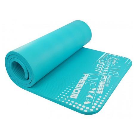 Podložka Lifefit Yoga Mat Exkluziv Plus 180x60x1,5cm - tyrkysová - LIFEFIT Yoga Mat Exkluziv Plus 180x60x1,5cm -tyrkysová (foto 1)