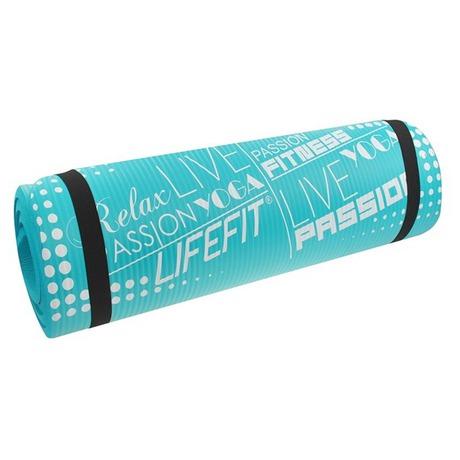 Podložka Lifefit Yoga Mat Exkluziv Plus 180x60x1,5cm - tyrkysová - Lifefit Yoga Mat Exkluziv Plus 180x60x1,5cm - tyrkysová (foto 2)