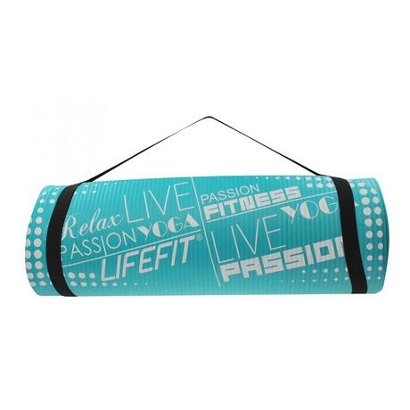 Podložka Lifefit Yoga Mat Exkluziv Plus 180x60x1,5cm - tyrkysová - Lifefit Yoga Mat Exkluziv Plus 180x60x1,5cm - tyrkysová (foto 3)