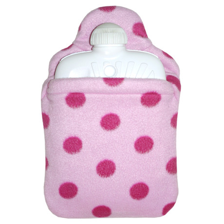 Dětský termofor Hugo Frosch Eco Junior Comfort s růžovým fleecovým obalem