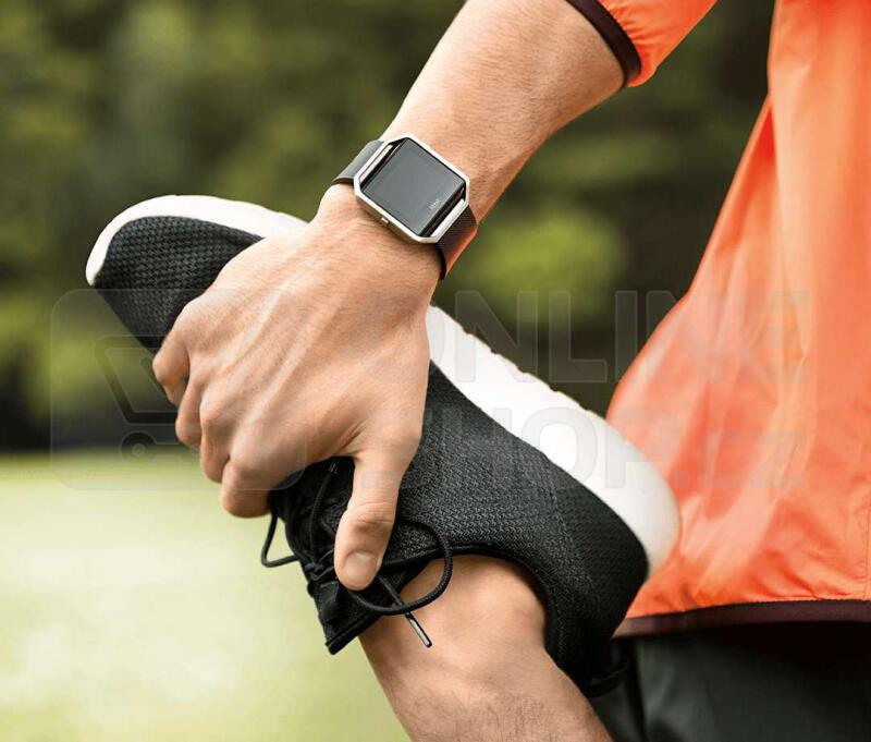 Chytré hodinky Fitbit Blaze large Gunmetal - černá