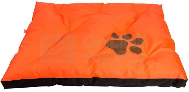 Matrace Samohýl Boseň neon s tlapou / nylon 90 x 60 x 12 cm - oranžová