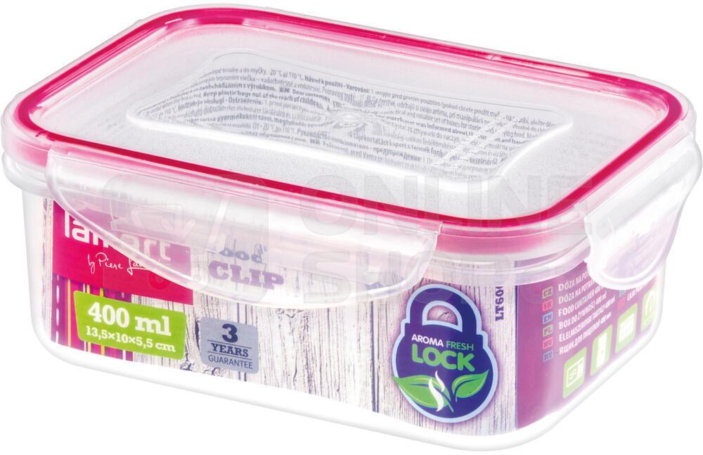 Dóza na potraviny Lamart LT6006 Clip 400ml obdelník