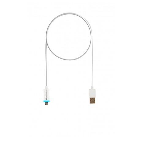 Kabel GoGEN USB A/microUSB B, LED, propojovací, 1m - GoGEN USB/micro USB, 1m, LED - bílý (foto 2)