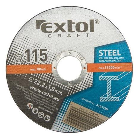 Řezný kotouč Extol Craft, na kov, 5ks, 125x1,6x22,2mm - Extol Craft, na kov, 5ks, 125x1,6x22,2mm (foto 2)