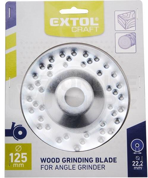 Brusný kotouč Extol Craft, 125x22,2mm