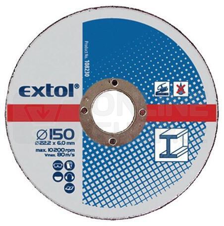 Brusný kotouč Extol Craft, na kov, 5ks, 230x6,0x22,2mm