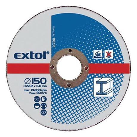 Brusný kotouč Extol Craft, na kov, 5ks, 230x6,0x22,2mm - Extol Craft, na kov, 5ks, 230x6,0x22,2mm (foto 2)